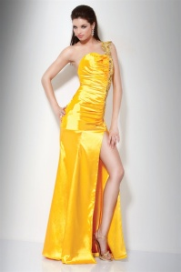 Yellow Jovani prom gown on sale