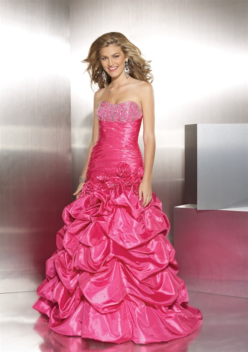 Lots of prom dresses on sale this week.