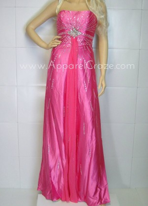 Pink dress for prom on sale.