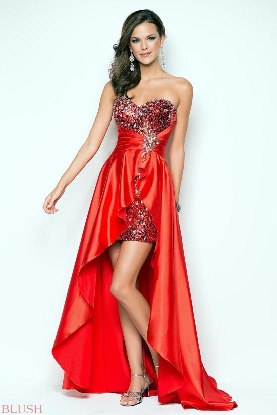blush prom dress 9508