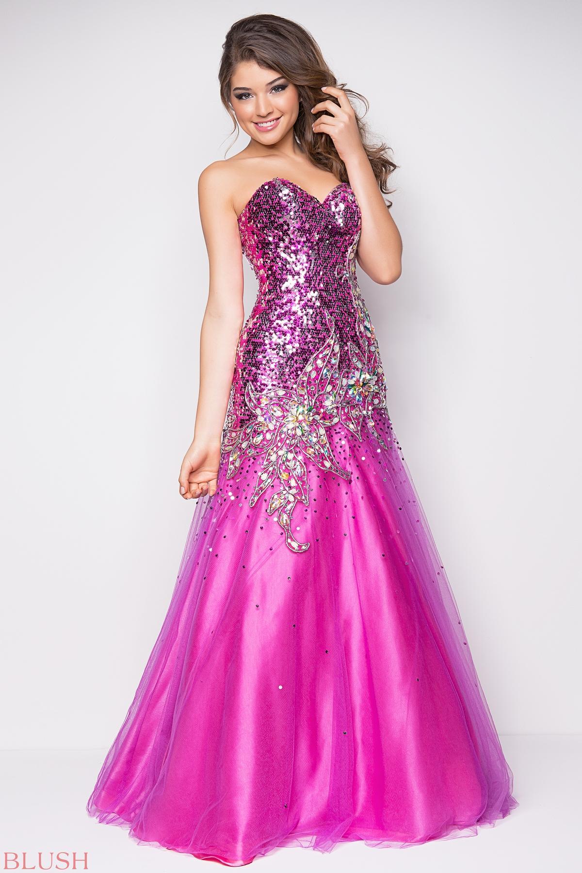 Pink Sequin Prom Dresses 2013 2013 prom dress...