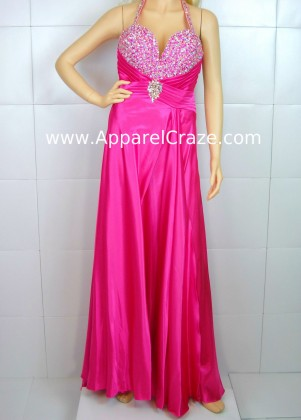 Pink prom gown by Tiffany Designs