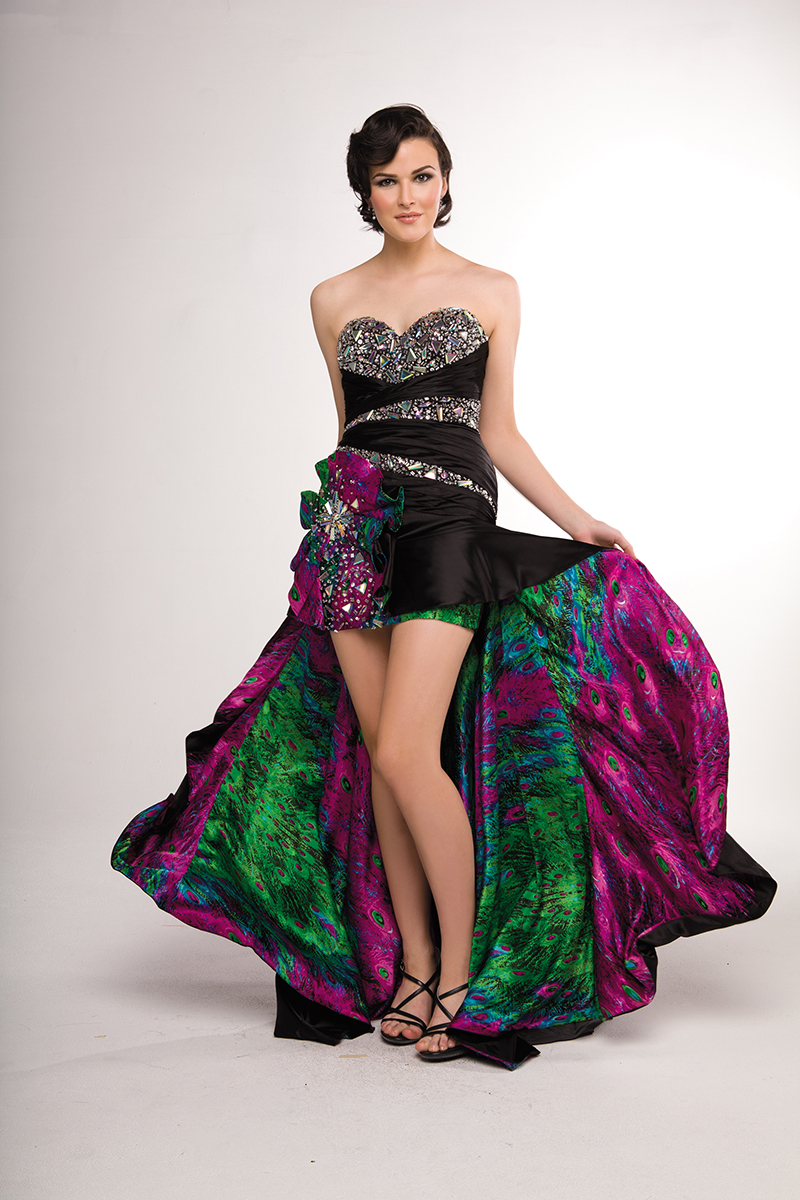 Crush formal gown 13609