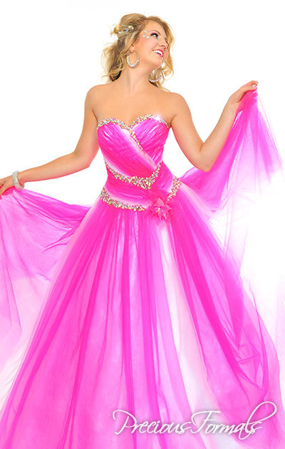 Precious Formals ball gown for prom 44312