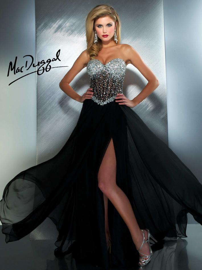 Prom gown from Mac Duggal 61285M