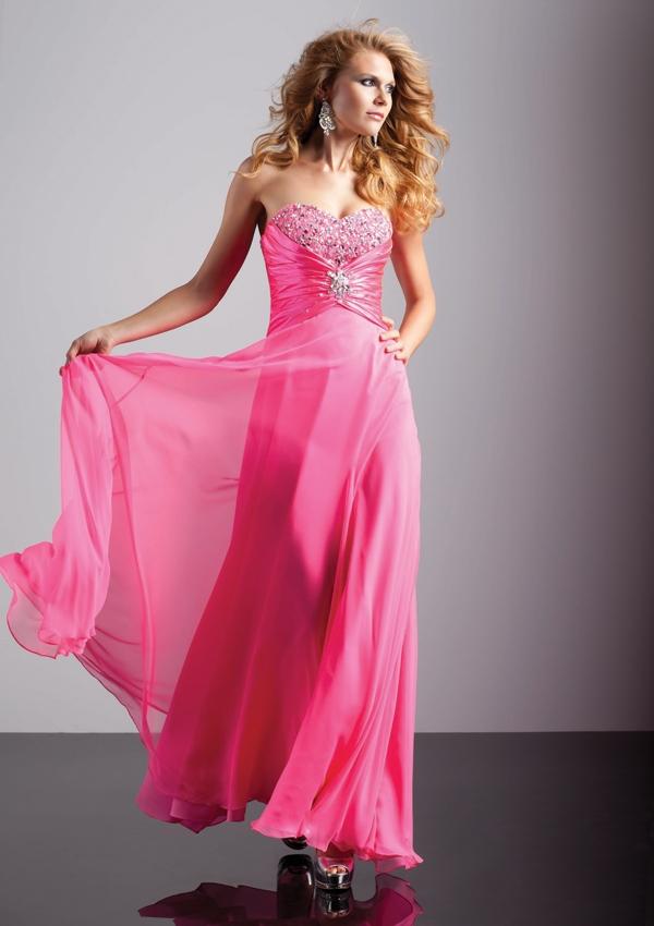 Long pink prom dress 93212
