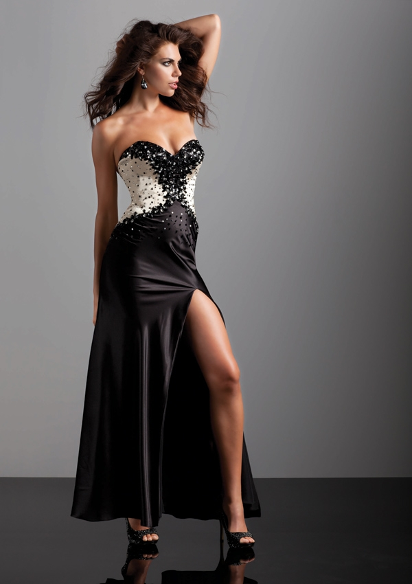 Gorgeous black prom dress from Mori Lee