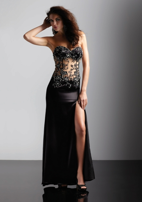 Amazing black prom dress