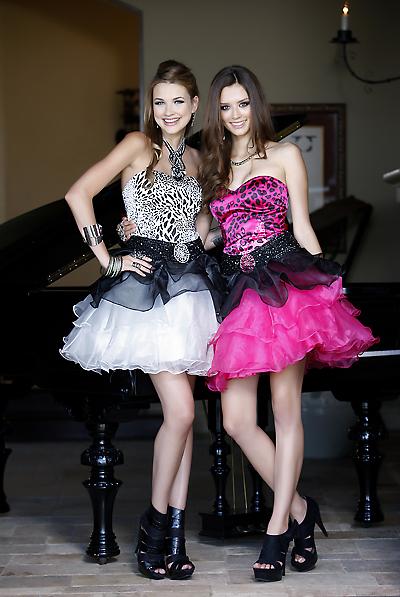 Mini prom dress F28078