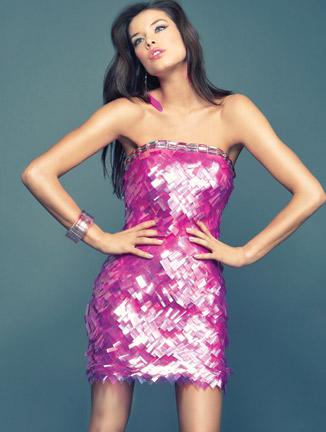 short prom dresses pink