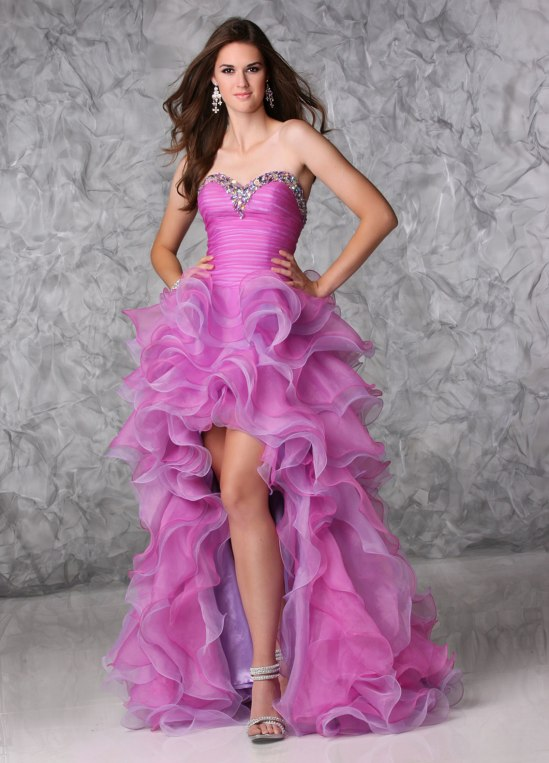 High low prom dress by Xcite style 30394