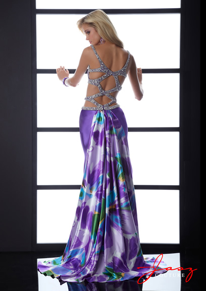 Floral print prom dress for 2013 by Jasz Couture.
