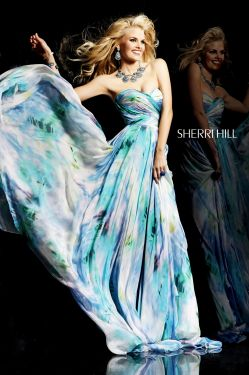 Sherri Hill 2013 fashion print dress style 99001