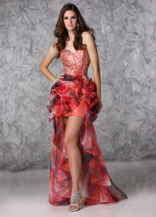 Print style prom dress by Xtreme style 32385