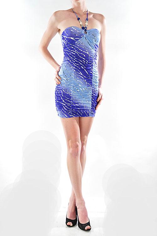 Ombre print dress