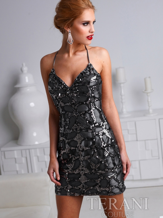 Terani homecoming dress in black H1220